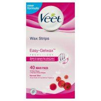 Veet Easy Grip Wax Strips Normal Skin 40 Pack