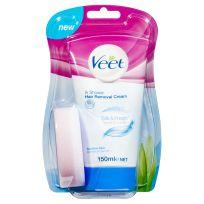 Veet In Shower Cream for Sensitive Skin Hair Removal 150g