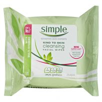 Simple Cleansing Facial Wipes 25 Pack