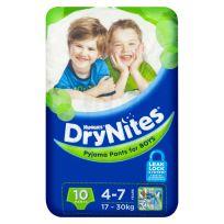 Huggies Dry Nites Pants Boys 4-7 Years 10 Pack