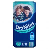 Huggies Dry Nites Pants Boys 8-15 Years 9 Pack