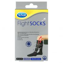 Scholl Flight Sox Black Size 3-6 (1 Pair)
