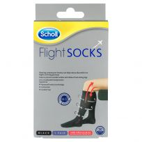 Scholl Flight Sox Black Size 6-9 (1 Pair)