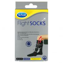 Scholl Flight Sox Black Size 9-12 (1 Pair)
