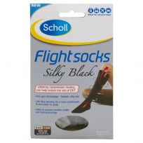 Scholl Flight Sox Ladies Silky Black Size 6-8 (1 Pair)