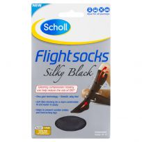 Scholl Flight Sox Ladies Silky Black Size 8-10 (1 Pair)