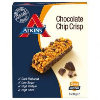 Atkins Advantage Bar Chocolate Chip Crisp 30g 5 Pack