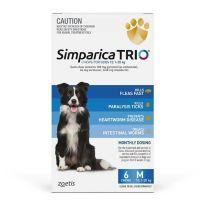 Simparica Trio 10.1-20kg (Blue) 6 Pack