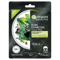 Garnier Skin Active Pure Charcoal Tissue Face Mask Black Algae 1 each