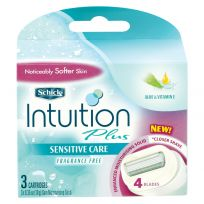 Schick Women Intuition Plus Razor Cartridges 3 Pack