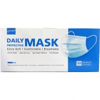 Hyclor Disposable Face Masks for Adults 50 Pack