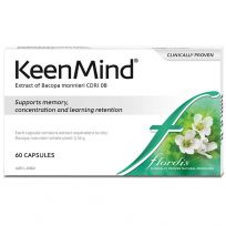 Flordis KeenMind Bacopa for Brain Health 60 Capsules