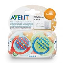 Avent Soothers 6-18 Months Fashion Design 2 Pack