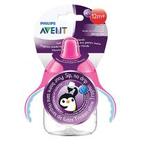 Avent Sip No Drip Trainer Cup Pink 12 Months + 260ml