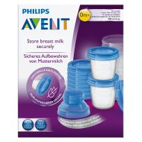 Avent Breast Milk Storage Cups 10 Pack Reusable Containers