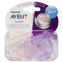 Philips Avent Soothers Bear Soothie 3M+ 2 Pack (colour & styles vary)