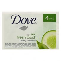 Dove Beauty Cream Soap Bar Fresh Touch 4 Pack x 100g