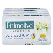 Palmolive Soap Bar Naturals White 4 x 90g Pack