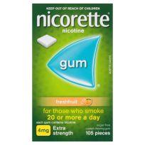 Nicorette Gum 4mg Fresh Fruit 105 Pack