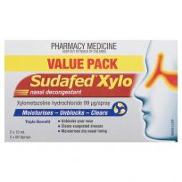 Sudafed Xylo Nasal Decongestant 10ml X 2 Pack