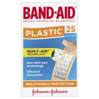 Band Aid Plastic Strips 25 Pack