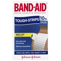 Band Aid Tough Strips Extra Large 10 Pack