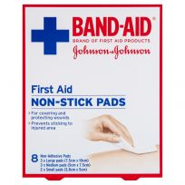 Band Aid First Aid NonStick Pads 8 Pack