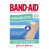 Band Aid Brand Aquablock Waterproof Strips 40 Pack