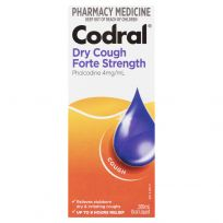 Codral Dry Cough Forte Strength Peach 200ml