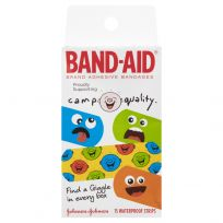 Band Aid Camp Quality Waterproof Strips 15 Pack