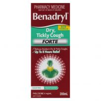 Benadryl Cough Liquid Dry Tickly Forte 200ml