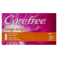 Carefree Liners Long 30 Pack