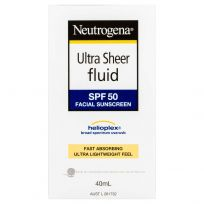 Neutrogena Ultra Sheer Fluid SPF50+ Sunscreen 40ml