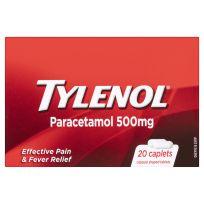 Tylenol Paracetamol 500mg 20 Pack