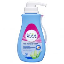 Veet Hair Removal Cream for Sensitive Skin Aloe Vera & Vitamin E 400ml