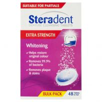 Steradent Extra Strength Whitening Tablets 48 Pack