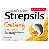 Strepsils Sore Throat Lozenges Honey & Lemon 36 Pack