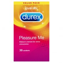Durex Pleasure Me Condoms Ribbed Dotted 30 Pack