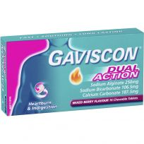 Gaviscon Dual Action Mixed Berry 16 Tablets