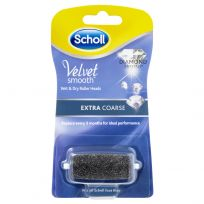 Scholl Velvet Smooth Wet & Dry Roller Heads Extra Coarse Single