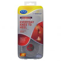 Scholl In-Balance Everyday Knee To Heel Orthotic Insole Medium Size 7 - 8.5