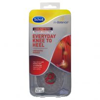 Scholl In-Balance Everyday Knee To Heel Orthotic Insole Small Size 4.5 - 6.5