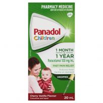 Panadol Children Drops 1 Month - 2 Years Colour Free 20ml