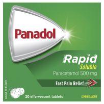 Panadol Rapid Soluble Paracetamol 20 Effervescent Tablets