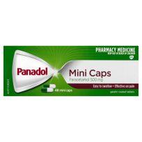 Panadol Mini Caps Paracetamol 500mg 48 Capsules