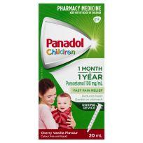 Panadol Children Syringe 1 Month - 2 Years Colour Free 20ml