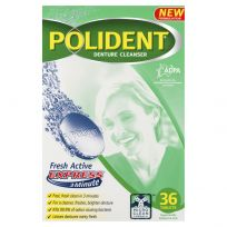 Polident Denture Cleanser Fresh Active Express 36 Tablets