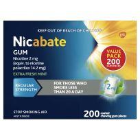 Nicabate Gum 2mg 200 Pack