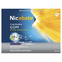 Nicabate Gum 4mg 200 Pack