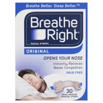 Breathe Right Nasal Strips Tan Small/Medium Strips 30 Pack